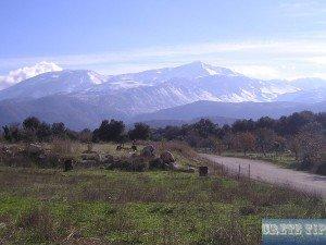 Lassithi Plateau with Dikti mountains