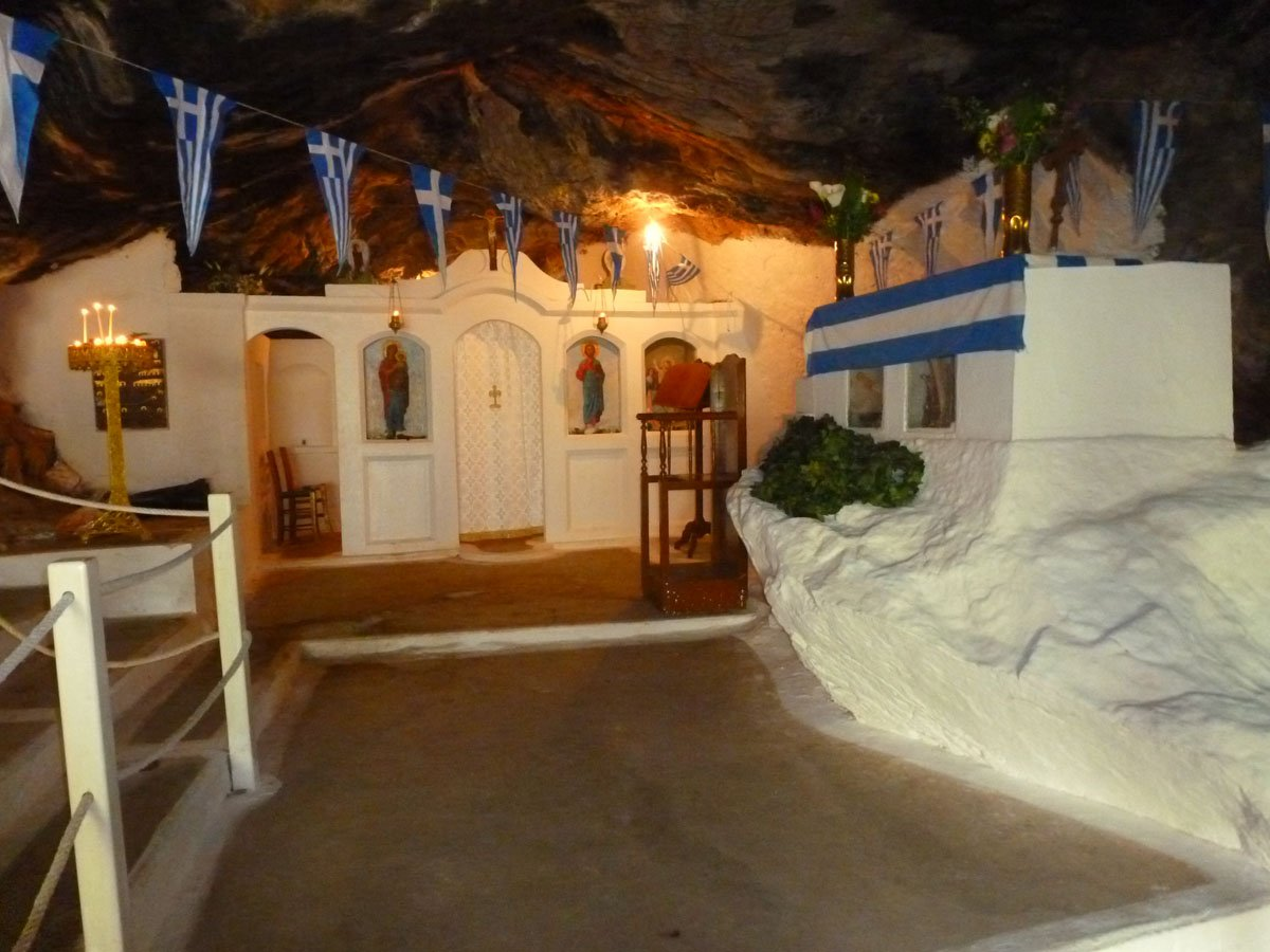 small church Milatos Cave