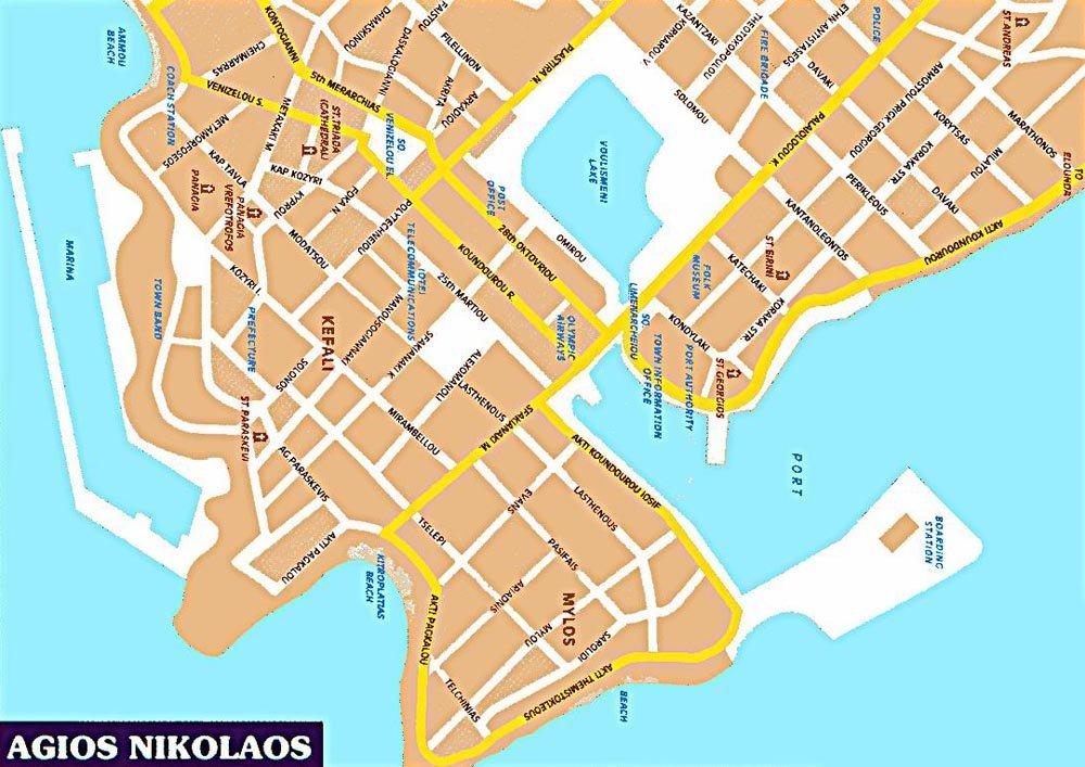 Map Aghios Nikolaos