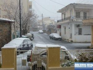 Snow on Crete 2017
