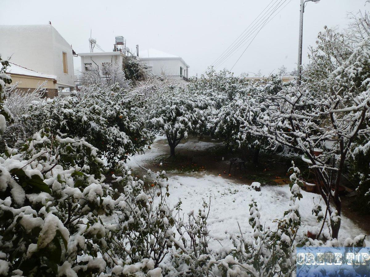 Snow on Crete