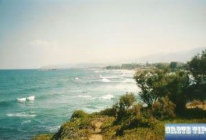 coastline of Malia