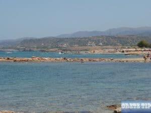 beaches at the eastern end of Malia