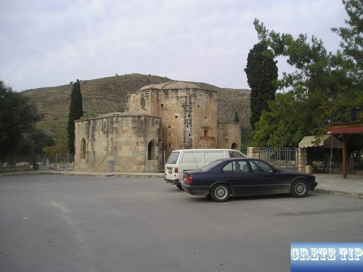 car park at the Titos church of Gortys