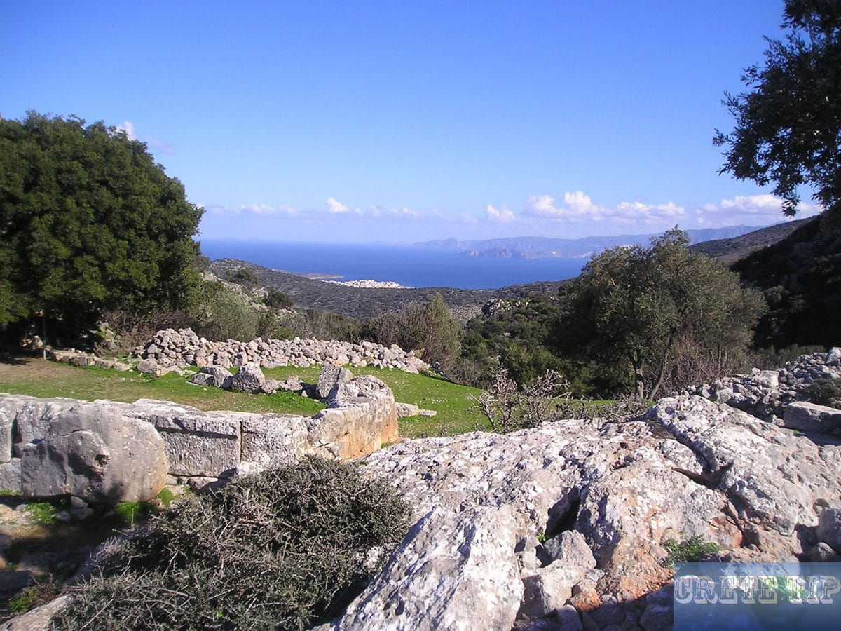 View from Lato to the Gulf of Mirabello