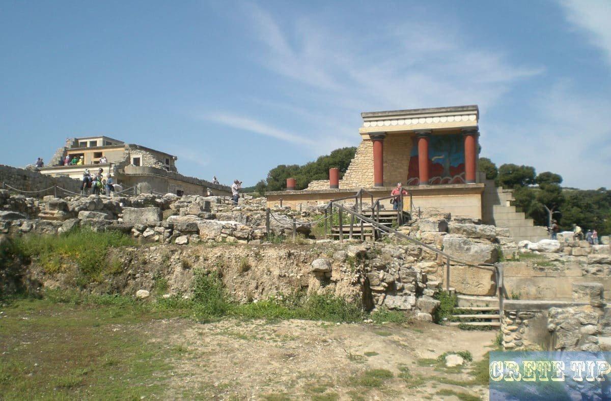 Palace grounds of Knossos.