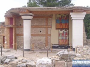 Restorations in the Palace of Knossos.