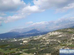 now-capped peaks of the Psiloritis mountains