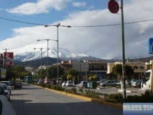 snow-capped peaks of the Lasithi plateau in winter
