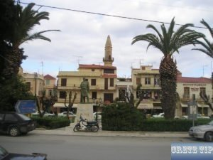 Muslim prayer towers Rethymno