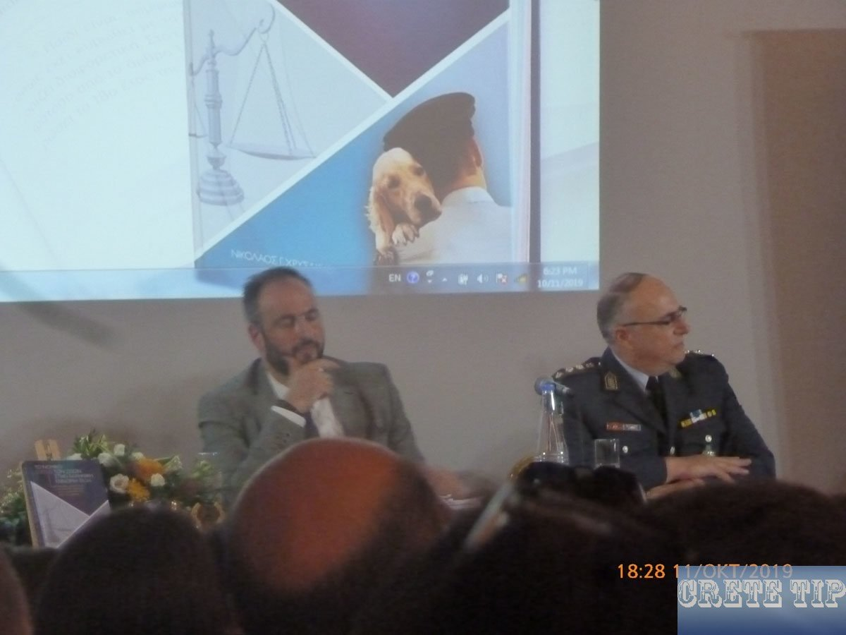 Police director Mr Xrysakis (right)