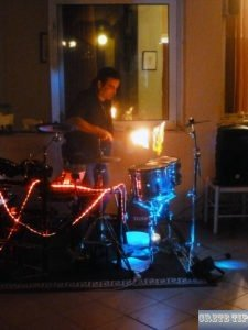 Drumming with fire