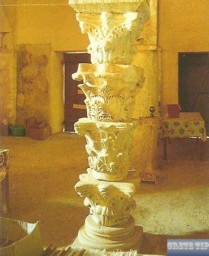Ancient Corinthian capitals as a pillar