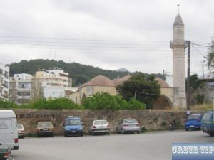 Islamic prayer towers and mosques Rethymno