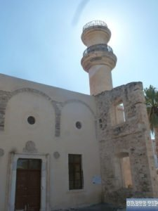Muslim prayer tower at the former mosque Ierapetra