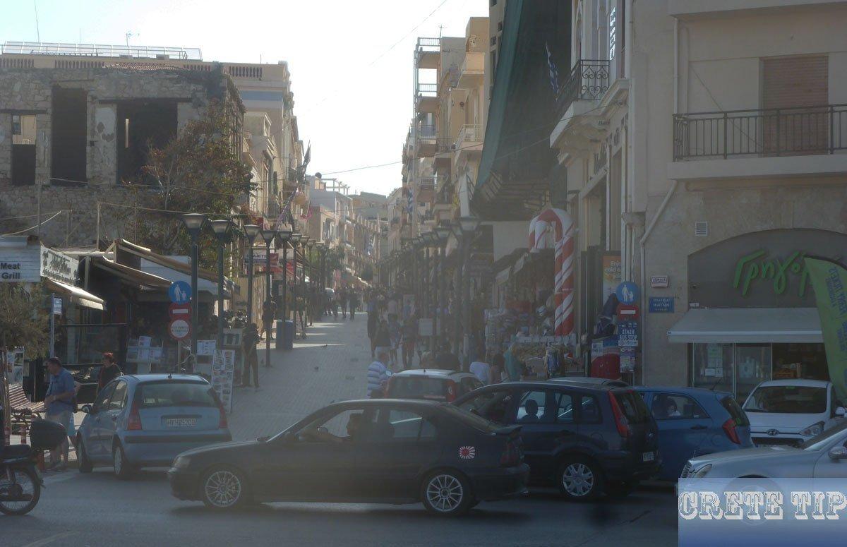 pedestrian zone in Heraklion