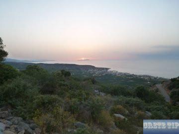 View of Milatos at sunset.
