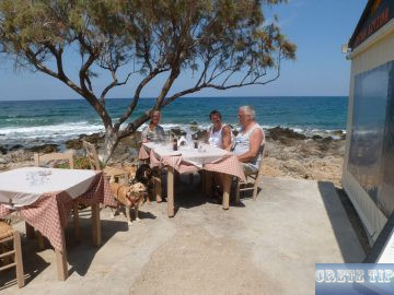 taverna by the sea in Milatos
