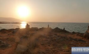 Sunset at the Cretan coast