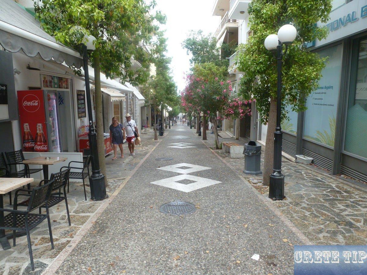 pedestrian zone of Agios Nikolaos