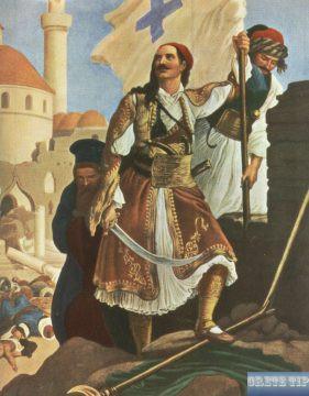 Panagiotis Kefalas in liberated Tripolitza.